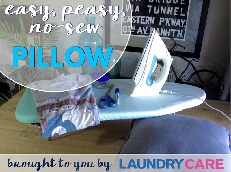 No sew pillow DIY